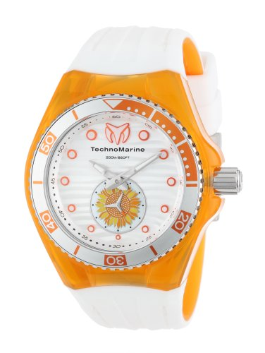 Technomarine-Womens-Quartz-Watch-with-White-Dial-Analogue-Display-and-White-Silicone-Strap-113023