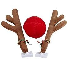 28 Cm Plush Rudolf El Reno Astas y Rojo Nariz Coche Juego - Navidad Festive Accesorio
