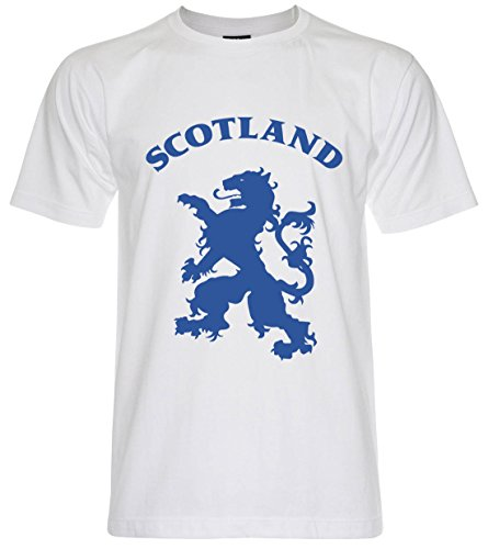 PALLAS Unisex's Lion Rampant Scotland T-Shirt White