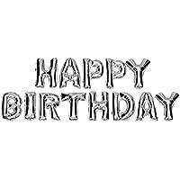 DekoRex® HAPPY BIRTHDAY Amor balón hinchable guirnalda de letras y brillantes hoja de globos de