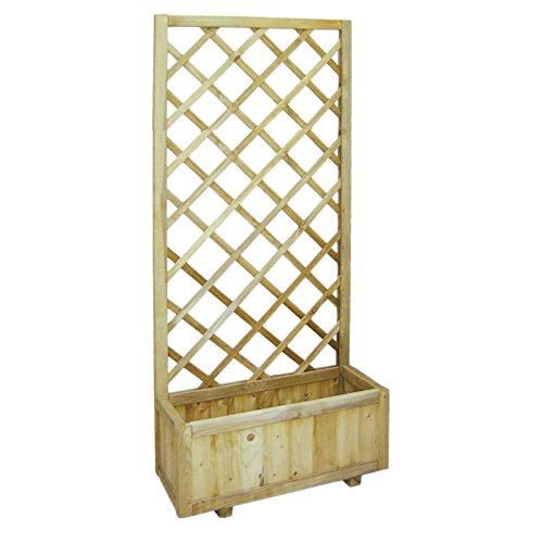 Platte aus Holz rechteckig mit Pflanztrog imprägniert in autoclve A Netz Garten Zäune Register 75x 180cm EV