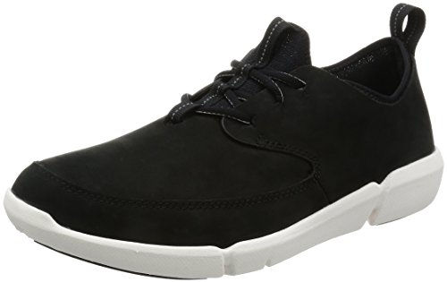 clarks-mens-triflow-form-low-top-sneakers-black-black-nubuck-8-uk