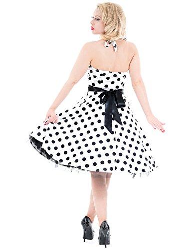 H&R London - Robe -  Femme - - White-Black