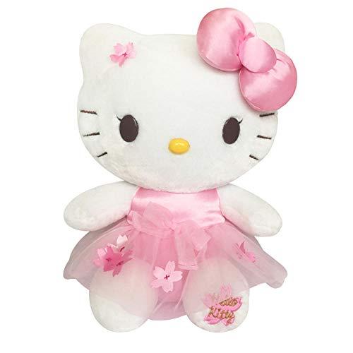 yfkgh Hello Kitty Plüschtier, dunstige Kitty Katze Figur, Hello Kitty Puppe, Kindergeburtstagsgeschenk@Sitzposition Kirschblüte_3 # ungefähr 37 cm (Plüsch Spielzeug Puppe Kitty Hello)