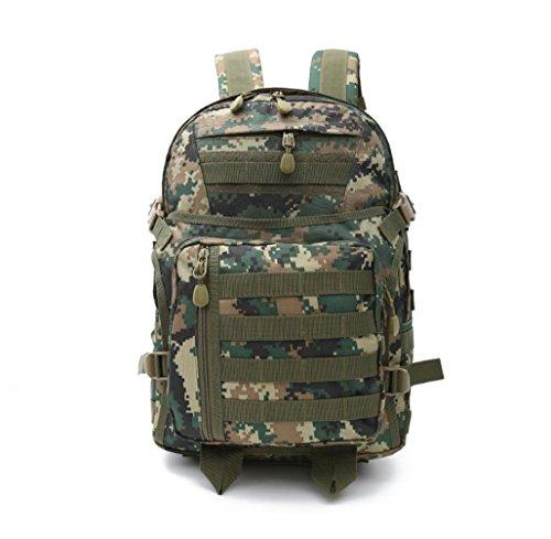 F@36L sport outdoor impermeabile Camo utilità alpinismo escursionismo Pack, spalla tattico Zaini tattici 3P, appassionati militari Campeggio camping zaino borsa, Digital Camo , A D