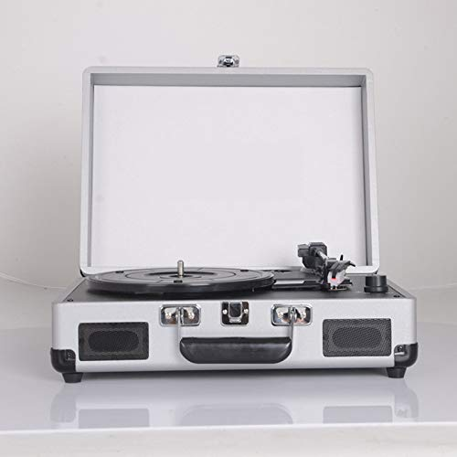 Lefang Retro Portable Vinyl Gramophone LP Record Player Belt Drive Built-In Speaker 33 To45 To78 RPM Play (Player Record Belt)