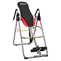 OneTwoFit Heavy Duty Folding Inversion Table Therapy Stretching Machine with Adjustable Height for Back Pain Relief OT079