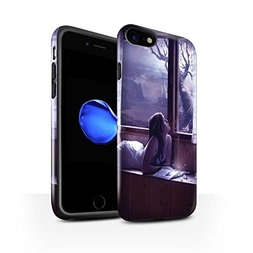 Officiel Elena Dudina Coque / Brillant Robuste Antichoc Etui pour Apple iPhone 7 / Pack 7pcs Design / Art Amour Collection Distraits
