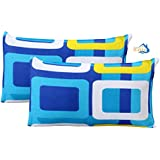"Home Elite Designer 2 Piece Pillow Cover Set - 18""x27"", Multicolour"