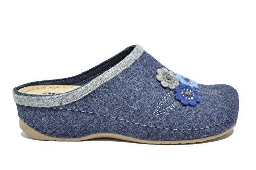 Melluso Ciabatte scarpe donna blu Q61012 39