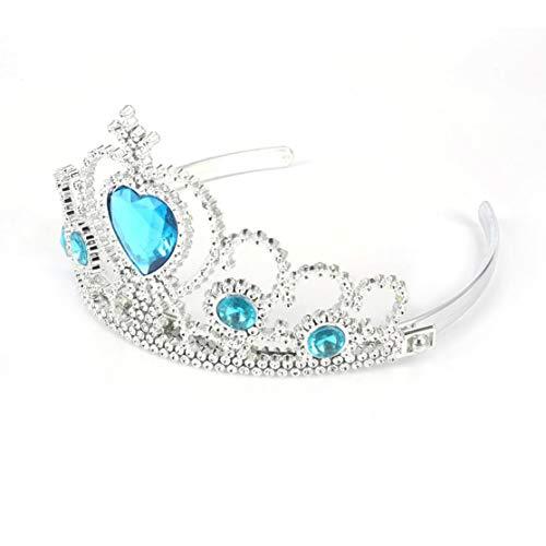 Anna Modernen Kostüm - Candyboom 5 Stücke Cosplay Crown Tiara Haarschmuck Crown Perücke + Zauberstab Für ELSA Anna Große Kostüm für Party Leistung