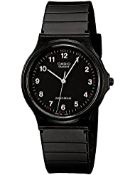 Casio Herren Armbanduhr Collection Analog Quarz Schwarz Resin Mq-24-1Bllgf