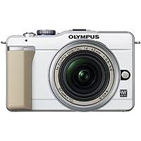 Olympus PEN E-PL1 Systemkamera (13 Megapixel, 6,9 cm (2,7 Zoll) Display, Bildstabilisator) Gehäuse weiß