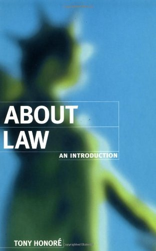 About Law: An Introduction (Clarendon Law Series) by Honor? Tony Published by Clarendon Press (1996)
