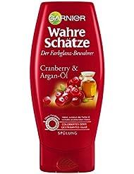 Garnier Wahre Schätze Spülung, Conditioner für intensive Haarpflege, Schützt die Farbe (mit Arganöl & Cranberry - für coloriertes oder gesträntes Haar) 1 x 200 ml)