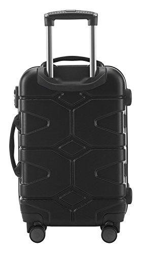 HAUPTSTADTKOFFER - X-Kölln - 2er Koffer-Set Trolley-Set Rollkoffer Reisekoffer, TSA, (S & L), Schwarz matt - 4
