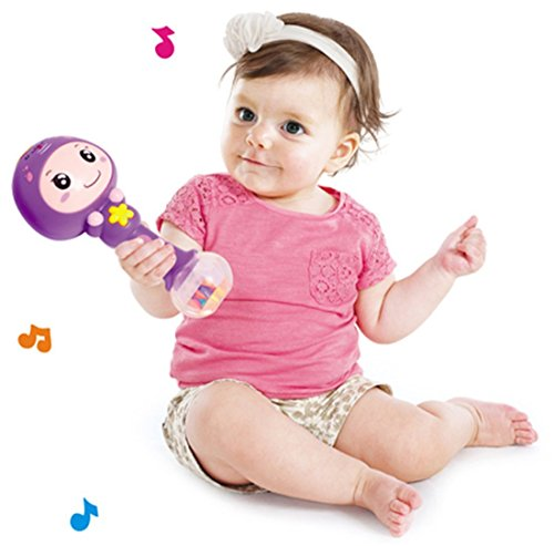 Saffire Colorful Baby Rattle with Amazing Sound, Colour May Vary