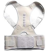 Männer Frauen Einstellbare Körperhaltung Korrektor Rücken Schulter Unterstützung Sport Brace Gürtel,White,L preisvergleich bei billige-tabletten.eu