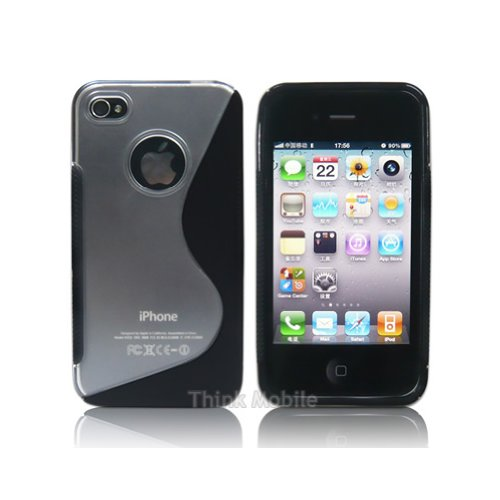 Apple iPhone 6 TPU Gel Case - Blau Apple iPhone 6 Tasche Flip Case Leder Cover Schutz Hülle Etui Schale - thinkmobile PC S-Line Schwarz