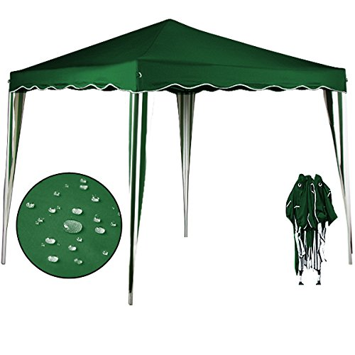 "Pop up gazebo ""Capri"" 3 x 3 m folding party tent – Garden marquee awning outdoor tent + Carry bag – 9 colours"