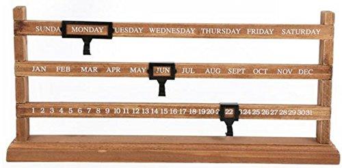Vintage Ewiger Schiebetür Holz Kalender Rustikal Geschenk Home Dekoration Datum Ständer Shabby (Ewiger Kalender Halloween)