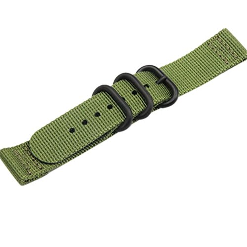 Nylon Armbanduhr Ersatz, happytop 20mm Armband Armbanduhr-Band Wrist Strap für Samsung Galaxy Gear S2Classic S grün - 2