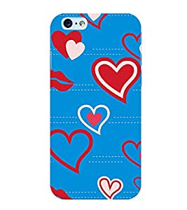 Heart and Lips Pattern 3D Hard Polycarbonate Designer Back Case Cover for Apple iPhone 6s Plus :: Apple iPhone 6s+