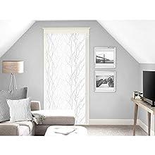 Soleil d'ocre Liane Voilage, Voile, Brise bise, Polyester, Blanc, 90 x 200 cm