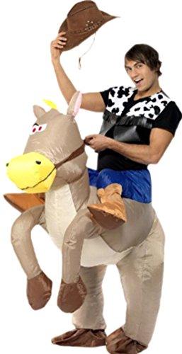Zauberclown Herren Ride 'Em Cowboy Kostüm, Karneval, Fasching, M-XL, Mehrfarbig