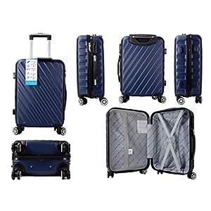 Aero Travel – Maleta con Ruedas telescópicas para Equipaje (50,8 cm) Azul Azul Marino Large