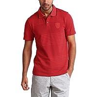 Puma SF Scuderia Ferrari Formel 1 F1 Polo Shirt T-Shirt gestreift, rot