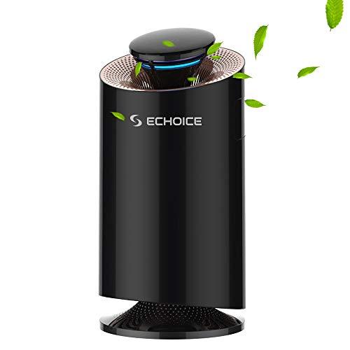 Echoice 3 in 1 Luftreiniger Aktivkohlefilter Air Purifier Photokatalysator Sterilisieren Moskito-Kontrolle für Zuhause, Büro, Allergiker, Dander Raucher (Schwarz)