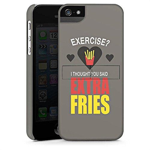 Apple iPhone 4 Housse Étui Silicone Coque Protection Fitness Pommes Déclaration CasStandup blanc