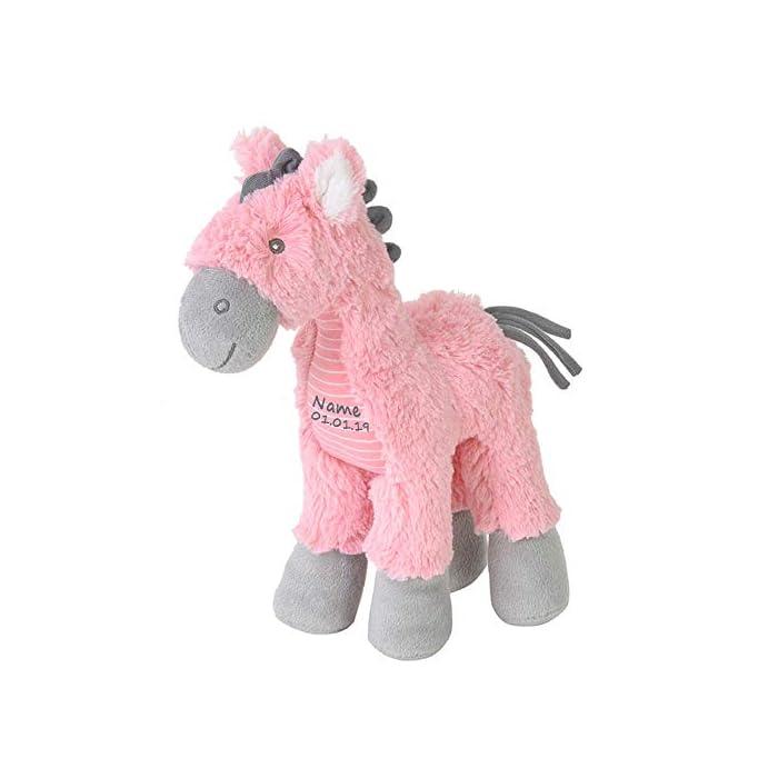 Elefantasie Stofftier Pferd mit Namen und Geburtsdatum personalisiert Geschenk
