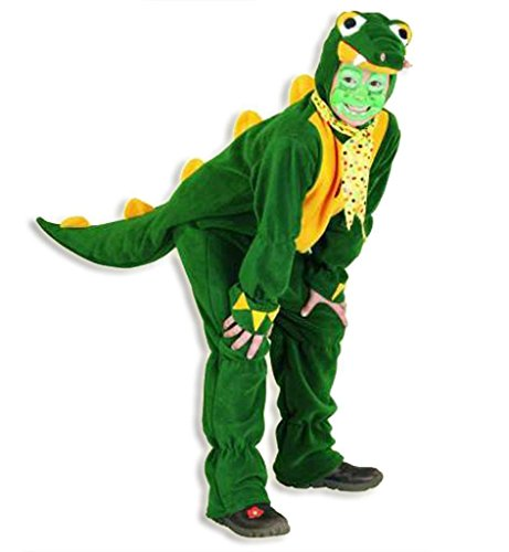 Kroki Overall, Kinder-Kostüm Krokodil, Tier-Kostüm, grün, Overall Dino Dinosaurier Alligator (104)