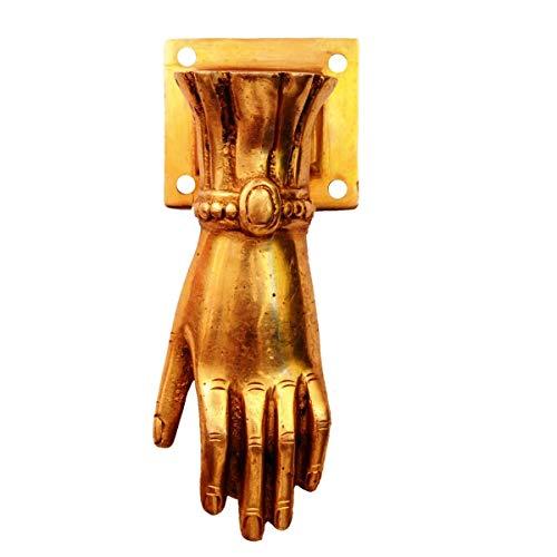 Wonderlist Handicrafts - Aldaba para puerta (latón), diseño de mano de Dios