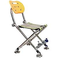RDJM Multifuncional plegable taburete de la pesca silla de pesca puede levantar el acero inoxidable de bajo peso