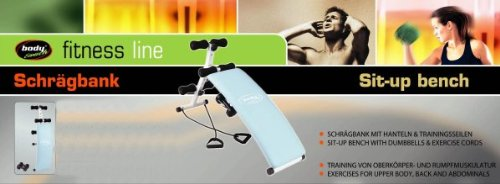 body coach Sit-Up Bench mit Hanteln und Latexbändern, 28517 (Lagerung Bench Amazon)