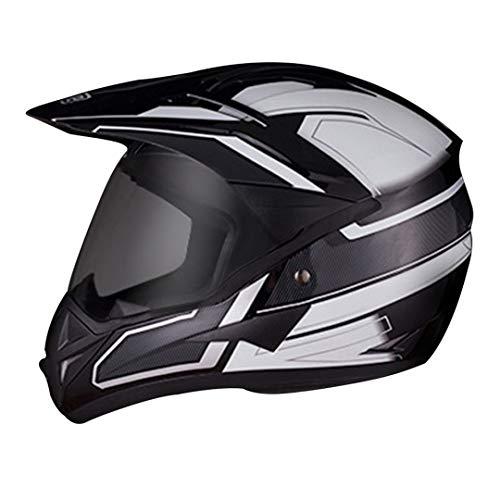 O-Mirechros Motocross Casco del Motociclo Casco da Motociclista Motociclismo Moto Casco del Motociclista Fronte Pieno Caschi Bye DP-908-Black WH XL