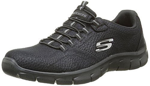 Skechers Women's Empire-Take Ch Low-Top Sneakers, Black, 7 UK 40 EU