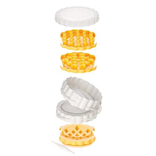 Tescoma Delicia Form Törtchen, 3Dekorationen, Kunststoff, Mehrfarbig, 12.8x 7x 21.4cm
