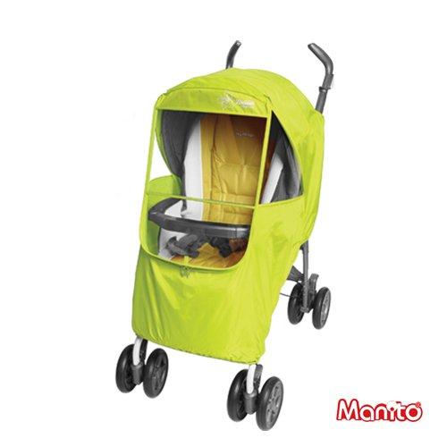 [Manito] Elegance Plus Cover / couverture pour poussette de bébé et poussette, couverture de pluie, Vent Météo Shield pour la marche en plein air, de grandes fenêtres avec protection des yeux (Green)