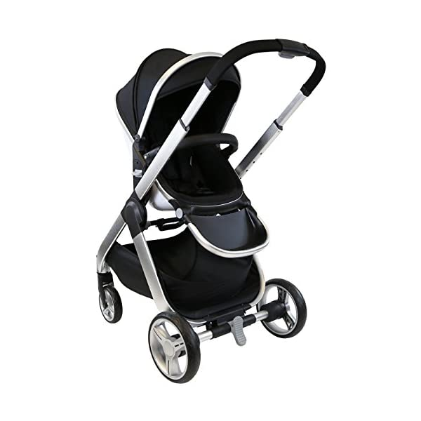 iSafe Marvel 3 in 1 Travel System with Car Seat & Carrycot & Luxury Changing Bag (Black Pearl) iSafe Complete With Free Carseat & Carrycot & Luxury Changing Bag Complete With Free Stroller Raincover Complete With Free Stroller Boot Cover 3