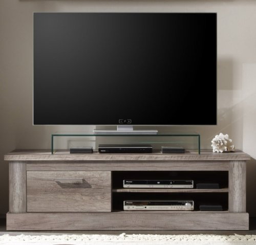 Dreams4Home TV-Element Nuro, Phonomöbel Lowboard TV Media Hifi Fernsehschrank Canyon Monument Oak