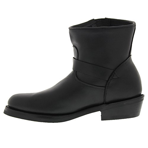 Grinders Mens Charger Leather Boots Oily Full Black