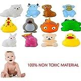 Jiada Chu Chu Bath Toys for Baby Non-Toxic Toddler Set of 12 Multi Color
