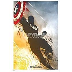 Pyramid International Winter Soldier Capitán América Maxi Póster, multicolor, 61 x 91,5 x 1,3 cm