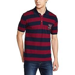 Jockey Men's Cotton T-Shirt (8901326138595_US93_Medium_Navy and Deep Red)