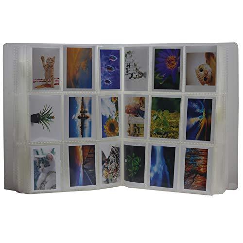 Anter 288 Taschen Instax Mini Foto Album für Fujifilm Instax Mini 8 8+ 9 7s 25 26 50s 70 90 Sofortige Kamera & Namenskarte mit 20 PCS Aufkleber (288 Pocket, Transparent)