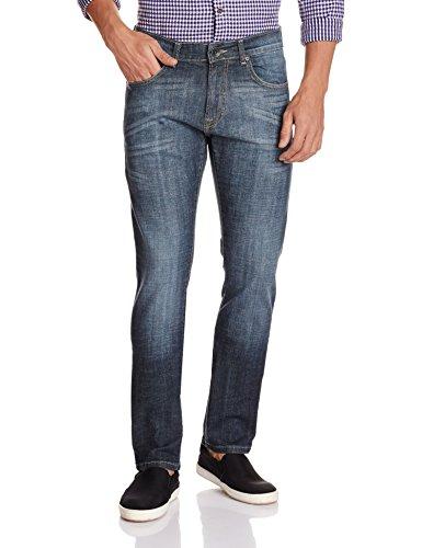 Pepe Jeans Men's Vapour Slim Fit Jeans(8903872854301_VAPOUR.3_36W x 34L_Bl-Bk-St)